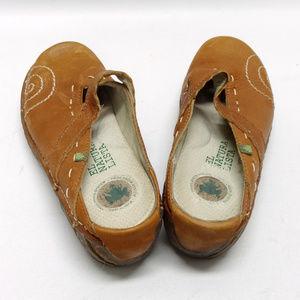 El Natura Lista Shoes - El Natura Lista Tan Leather Mary Jane/Mule Slides